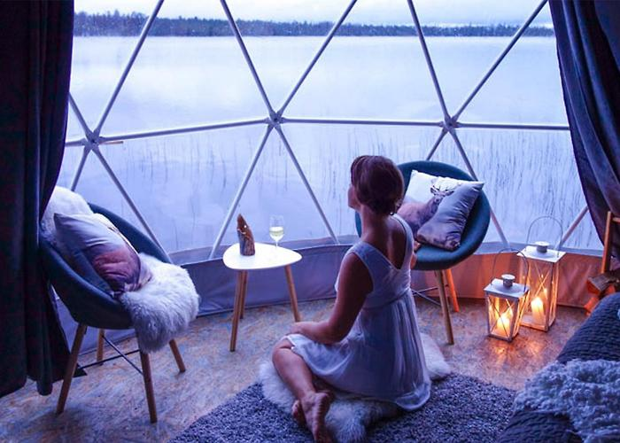 Geodesic Dome Kit Tents Glamping Garden Glass PVC Igloo Dome House For Sale