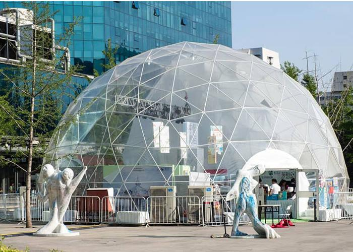 Clear Roof Geodesic Spherical Marquee Dome Tents for Outdoor Cafe