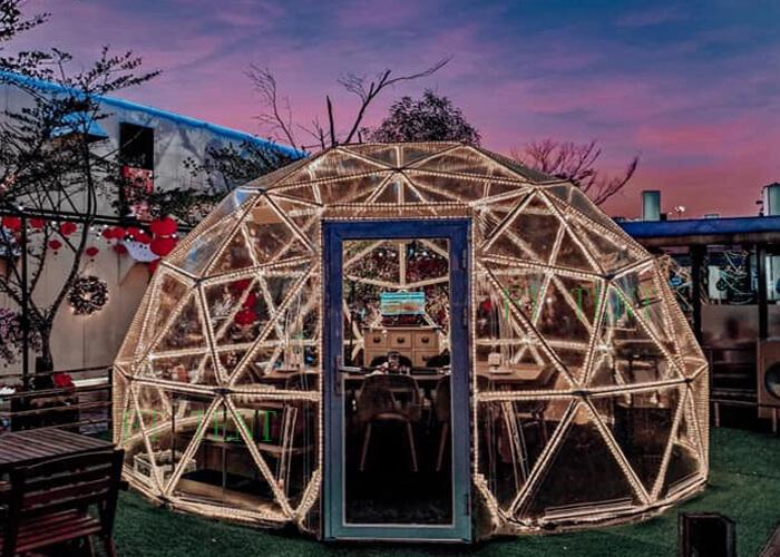 clear roof transparent  party dinner geodesic dome tent