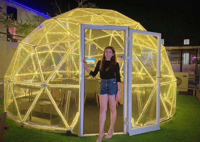 5m full Transparent Geodesic Dome Tent Clear Tent For Sale