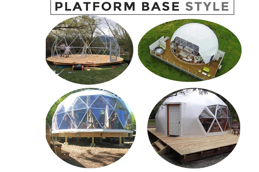 flooring system for dome tent