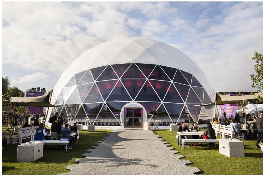 Double Swing Door for Dome Tent