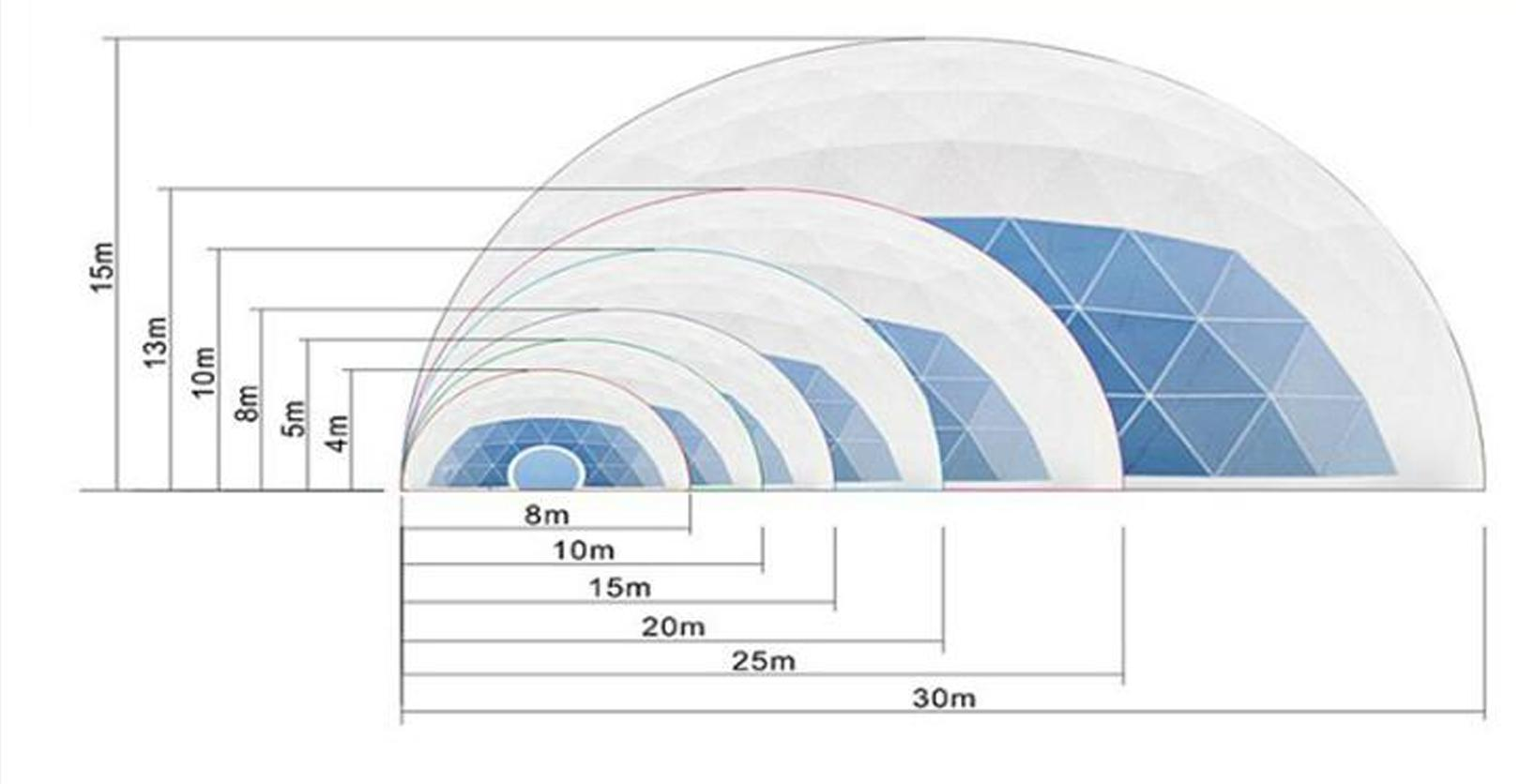 dome tent size available