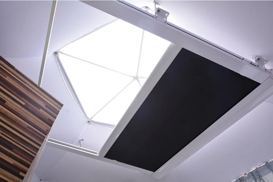 skylighting shed for luxury dome glamping tent