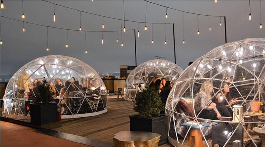 4m clear dome restaurant tent