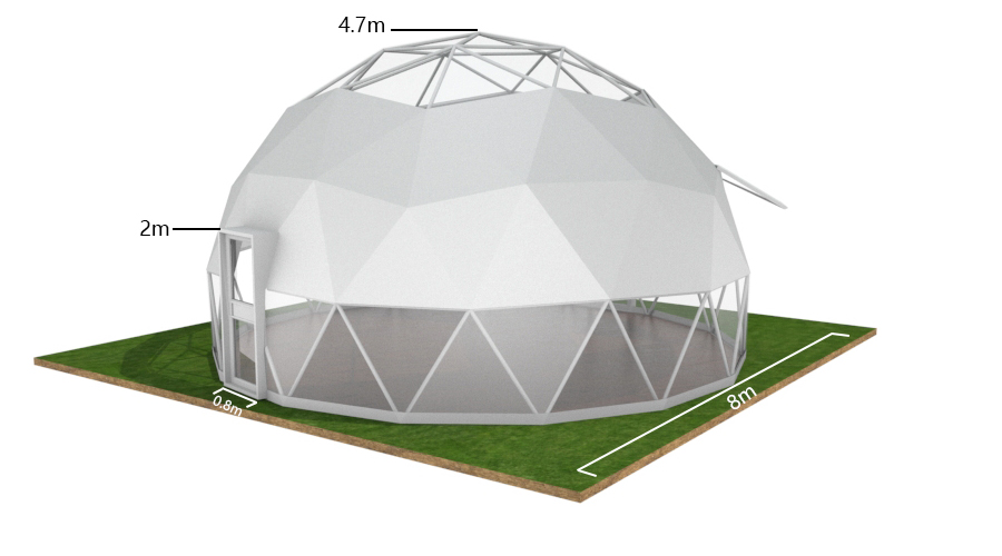 factory price PVC luxury dome tent outdoor hotel camping for sale