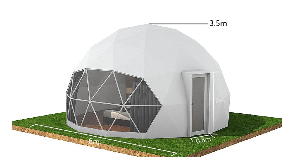 factory price PVC luxury dome tent for camping